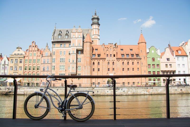 Bicicleta em gdansk foto de stock