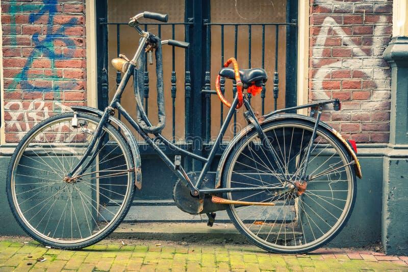Bicicleta en Amsterdam fotos de archivo libres de regalías
