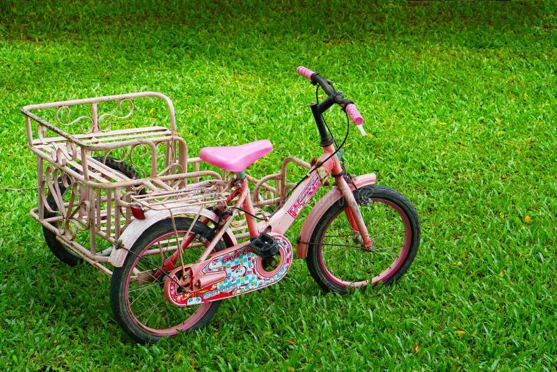 Bicicleta en la hierba fotos de archivo