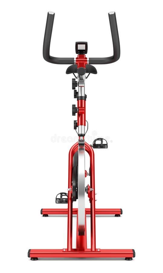 Bicicleta estática inmóvil en blanco stock de ilustración