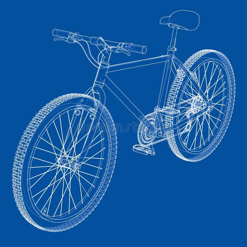 Bicicleta Estilo Del Alambre-marco Vector Ilustración del Vector ...