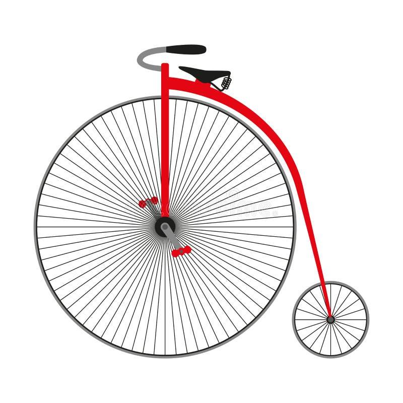 Bicicleta farting da moeda de um centavo Bicicleta retro ilustração royalty free