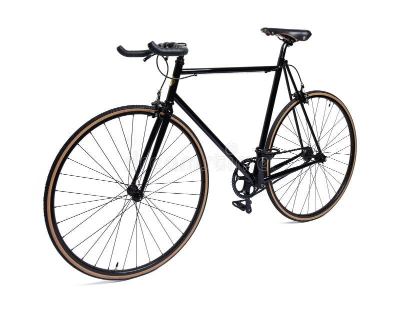 Bicicleta fija negra del engranaje imagen de archivo libre de regalías