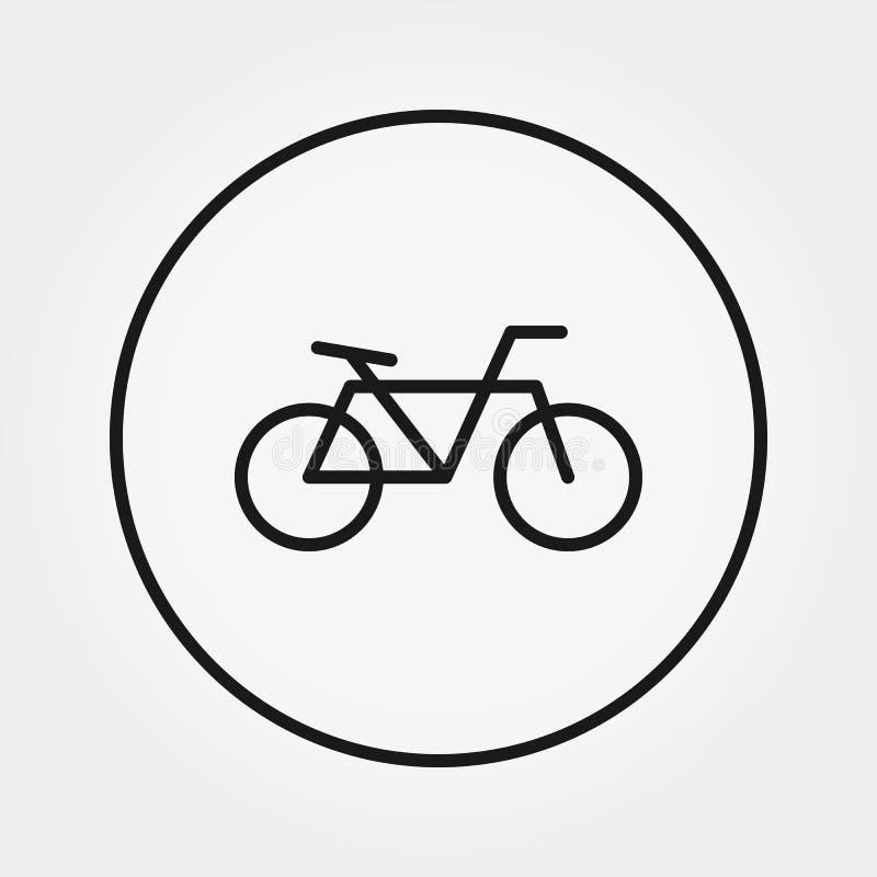 Bicicleta Icono universal Vector Línea fina Editable ilustración del vector