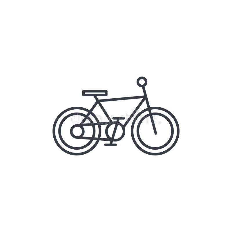 Bicicleta, línea fina icono de la bici Símbolo linear del vector libre illustration