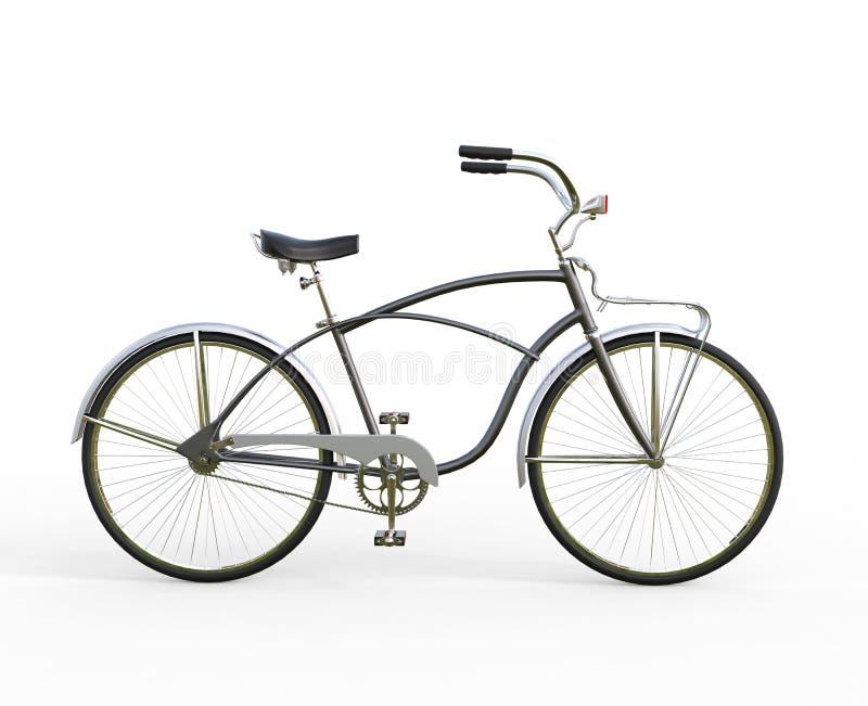 Bicicleta negra del vintage - vista lateral foto de archivo libre de regalías