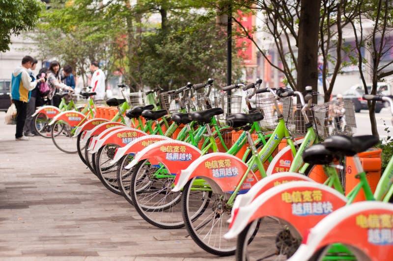 Bicicleta pública imagens de stock royalty free