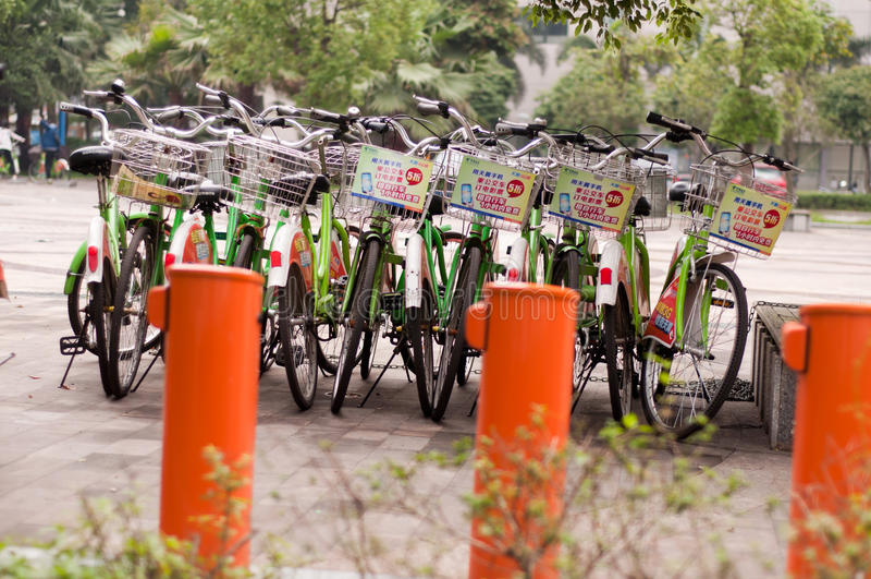 Bicicleta pública imagem de stock royalty free