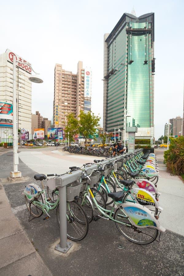 Bicicleta pública imagem de stock