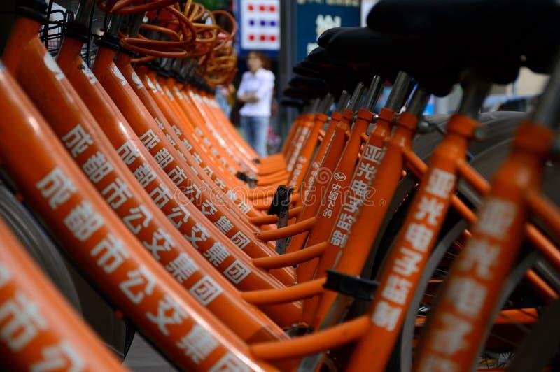 A bicicleta pública de Chengdu foto de stock royalty free