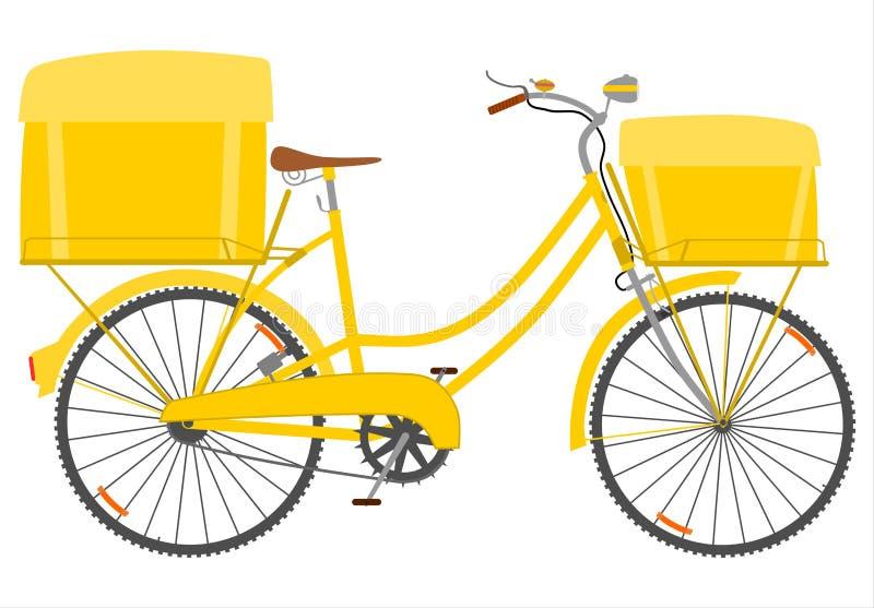 Download Bicicleta do correio. ilustração do vetor. Ilustração de engrenagem - 29831083