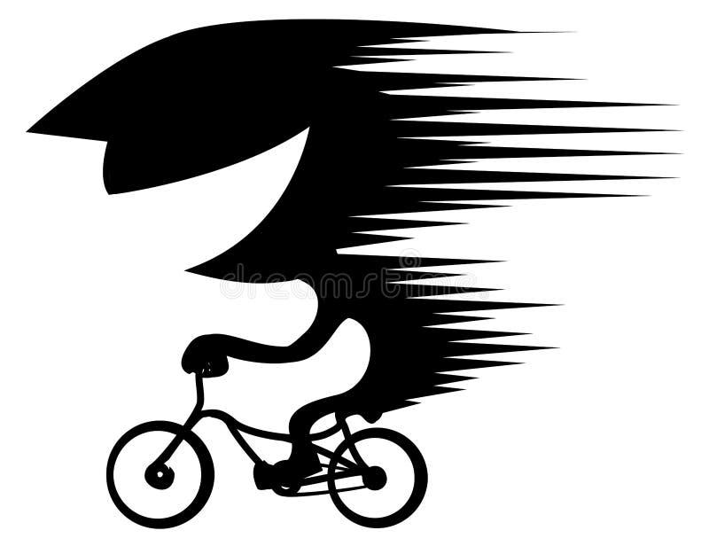 Bicicleta que monta o estêncil de alta velocidade ilustração stock