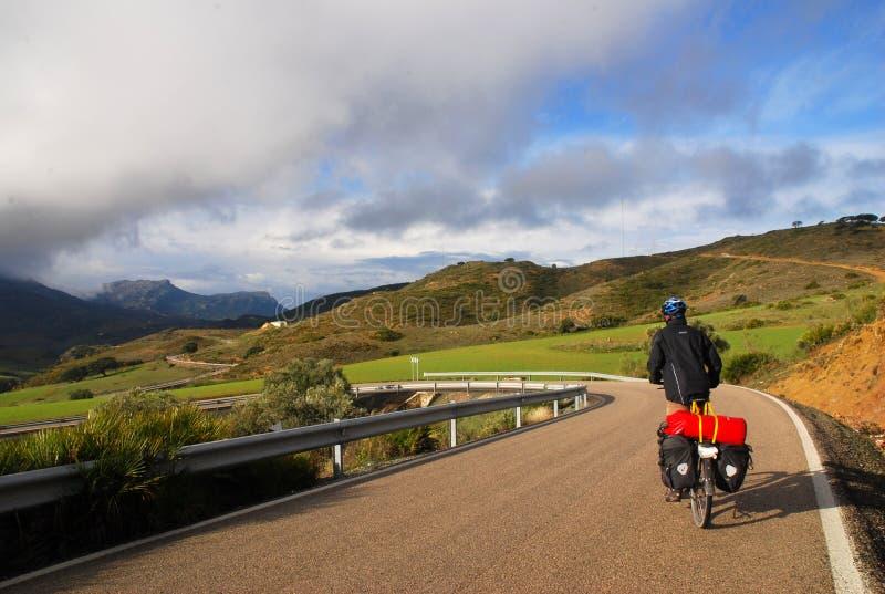 Bicicleta Que Viaja En España Foto de archivo