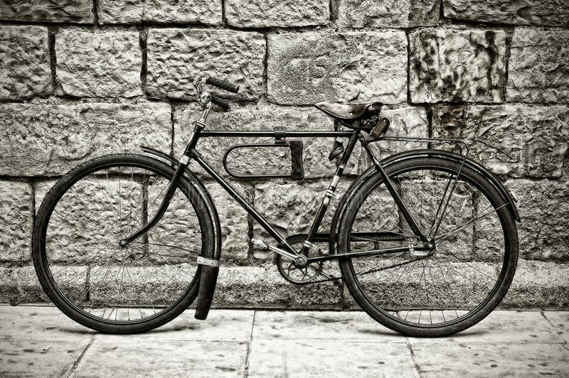 Bicicleta retra fotos de archivo