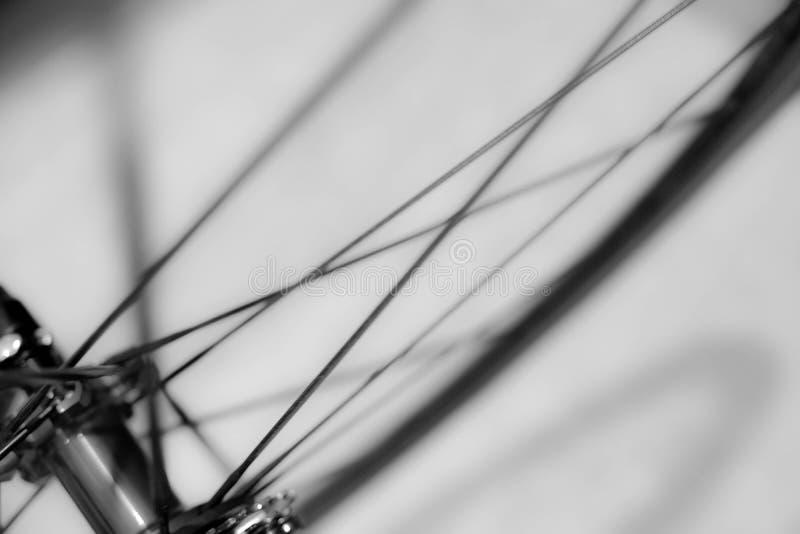 A bicicleta roda dentro o movimento como o fundo abstrato fotografia de stock