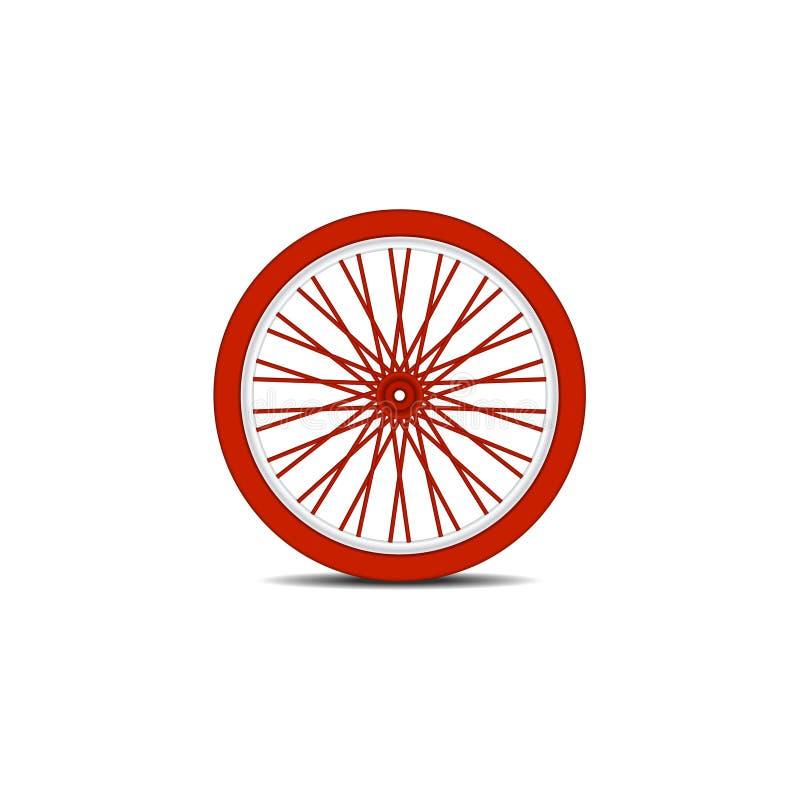 A bicicleta roda dentro o projeto vermelho com sombra ilustração royalty free