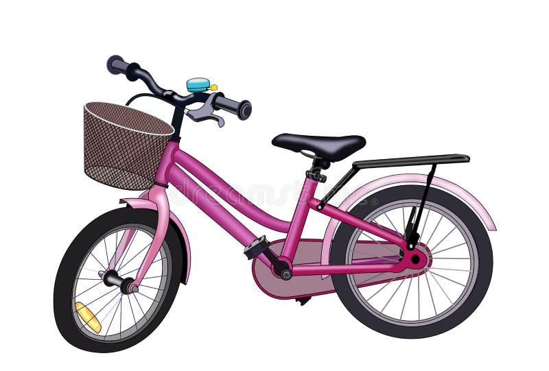 Bicicleta rosada ilustración del vector