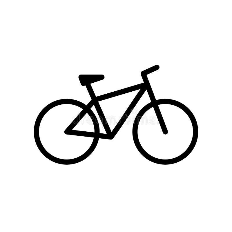 Bicicleta Vector del icono de la bici en estilo plano stock de ilustración