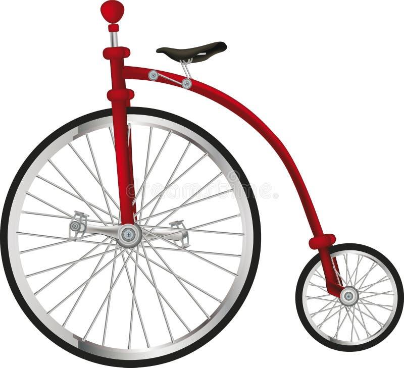 Bicicleta velha do circo ilustração royalty free