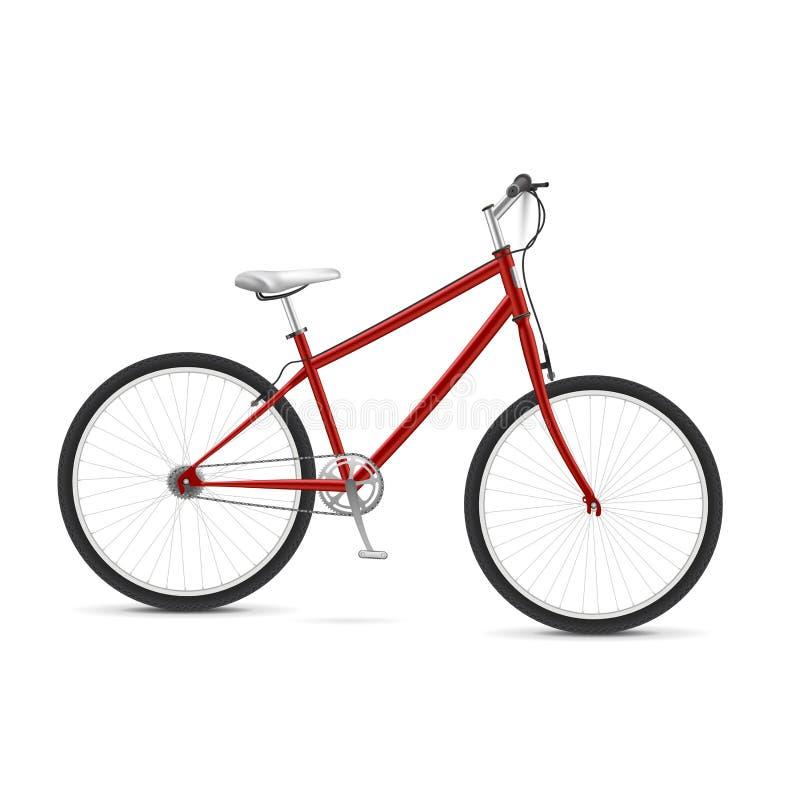 Bicicleta vermelha ilustração do vetor