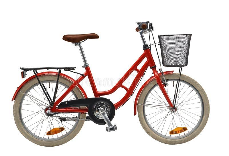 Bicicleta vermelha dos miúdos imagens de stock