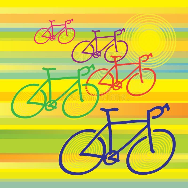 Bicicletas ilustração royalty free