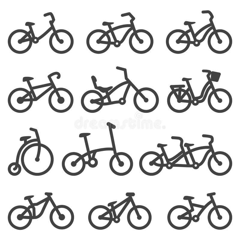 Bicicletas ilustração do vetor