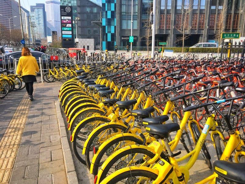 Bicicletas da cidade imagens de stock
