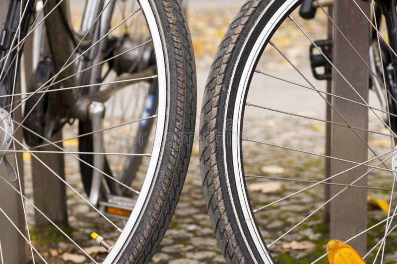 Bicicletas de Amsterdão fotografia de stock