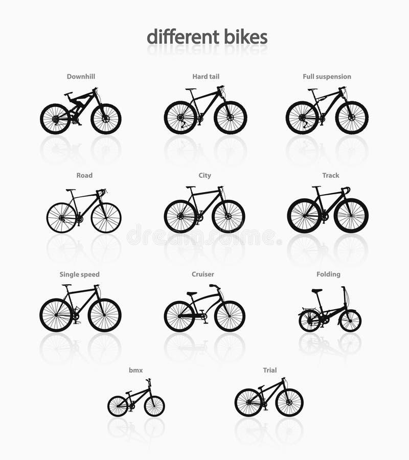 Bicicletas diferentes ilustração do vetor
