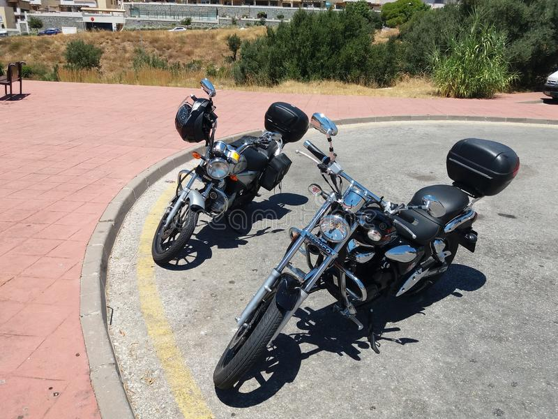 2 bicicletas do cudtom imagem de stock royalty free