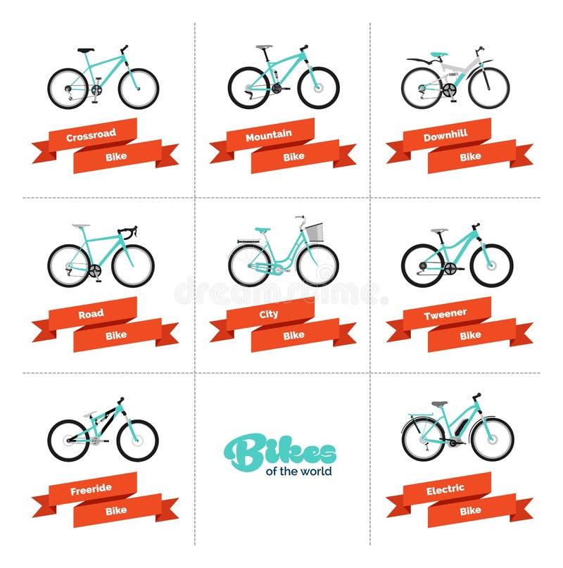 Bicicletas do mundo ilustração do vetor