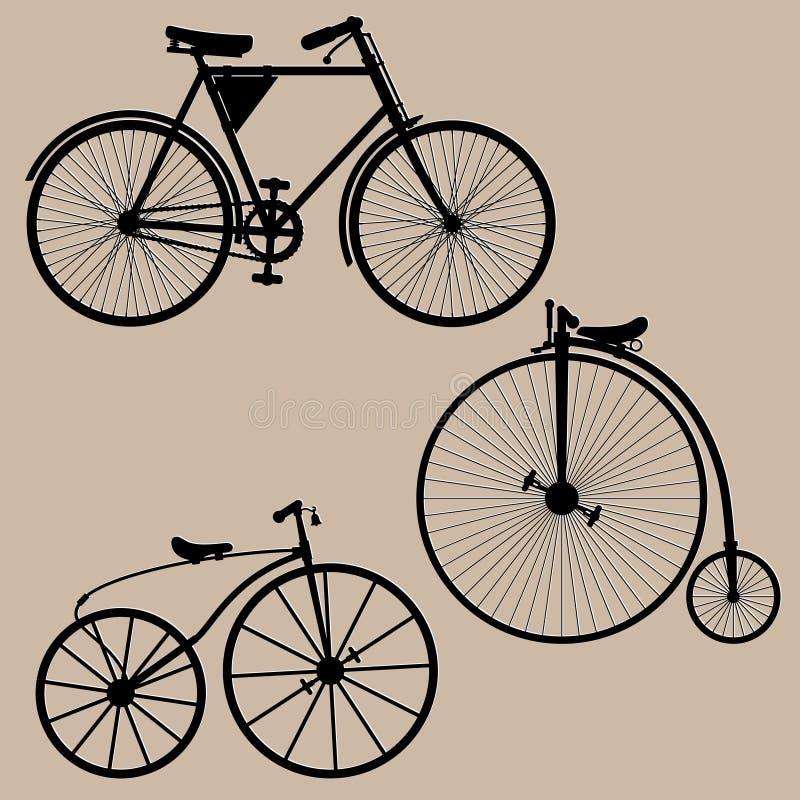 Bicicletas do vintage ilustração stock