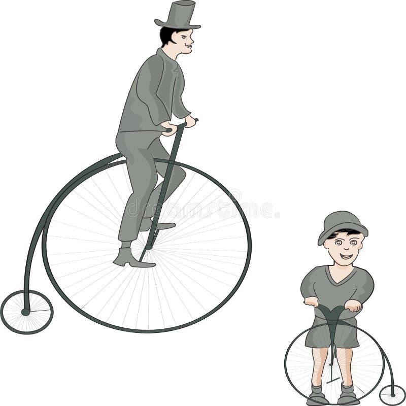 Bicicletas do vintage ilustração do vetor