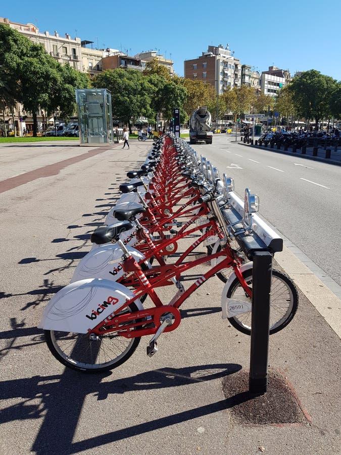 Bicicletas elétricas fotografia de stock