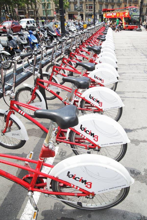 Bicicletas em Barcelona foto de stock royalty free