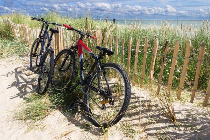 Bicicletas en Sylt, Alemania fotografía de archivo libre de regalías