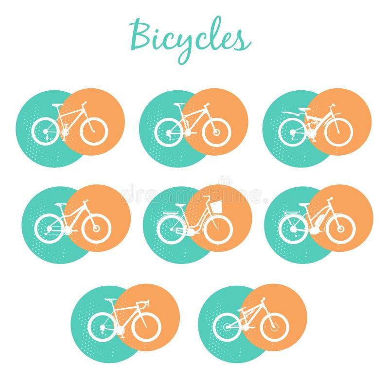 Bicicletas modernas ajustadas ilustração royalty free