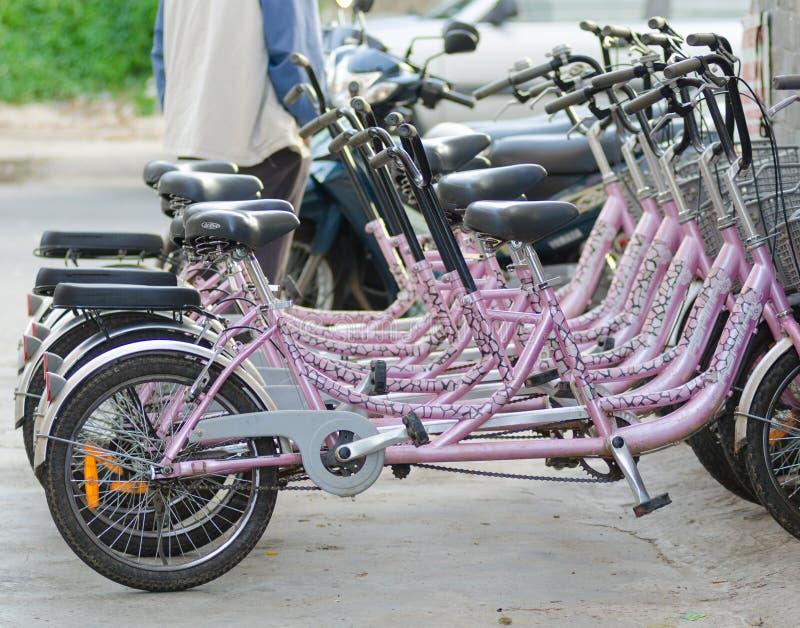 Bicicletas para o aluguel imagens de stock