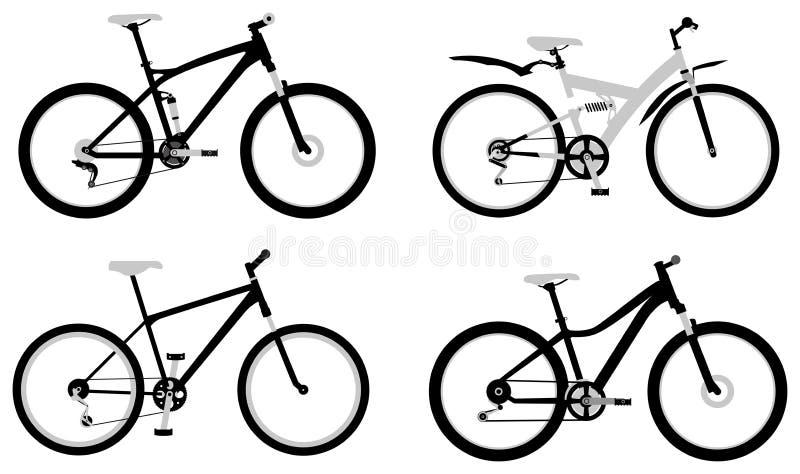 Bicicletas, parte 2 ilustração do vetor