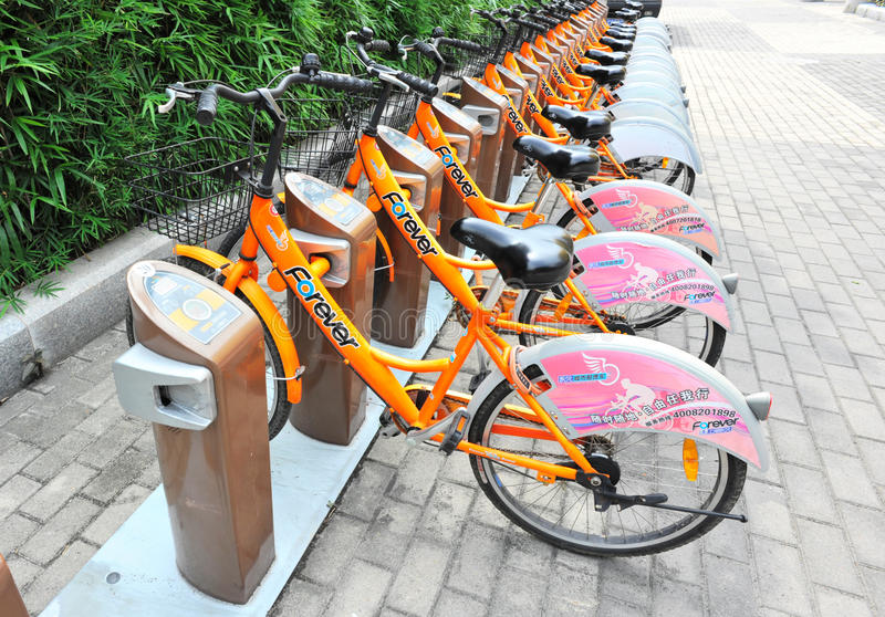 Bicicletas Rental imagem de stock