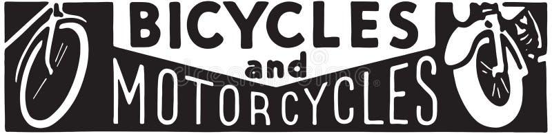 Bicicletas y motocicletas libre illustration