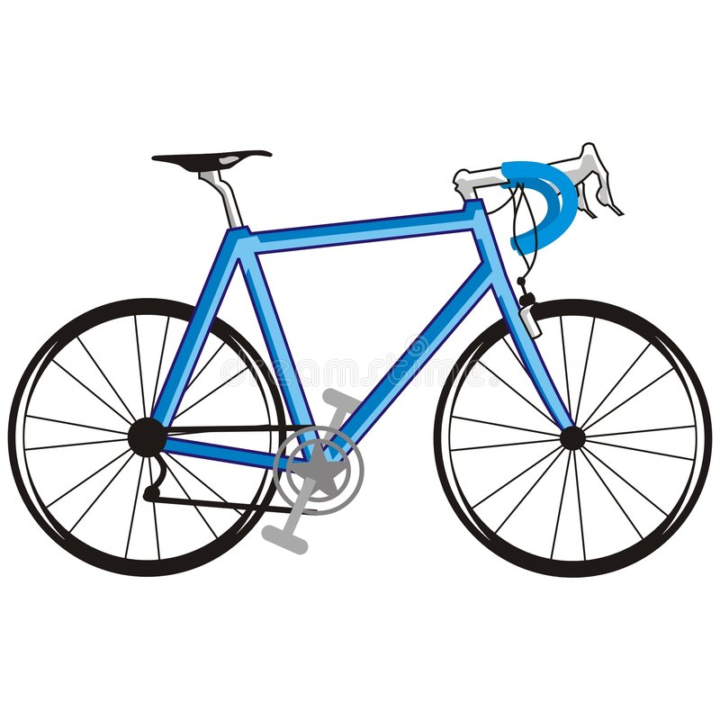 Bicicletta blu illustrazione di stock