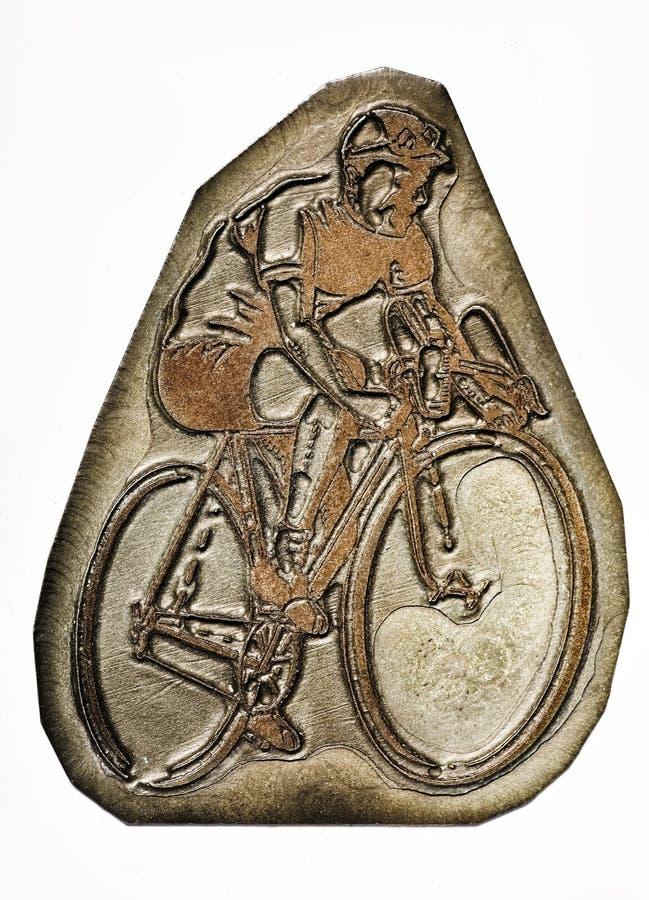Bicicletta & cavaliere dello scritto tipografico immagine stock libera da diritti