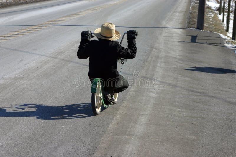 Bicicletta dei Amish immagini stock
