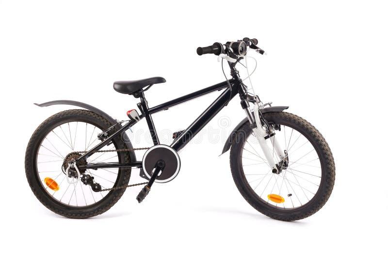 Bicicletta del bambino su bianco fotografia stock libera da diritti
