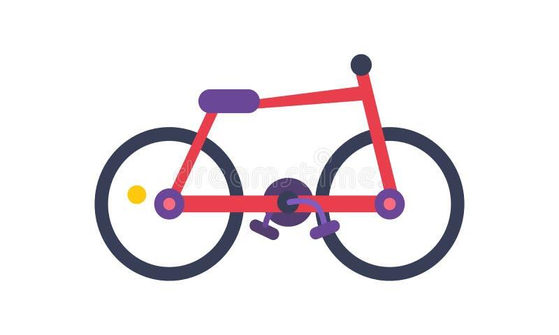 Bicicletta dell'illustrazione di vettore del manifesto di colore rosso illustrazione vettoriale
