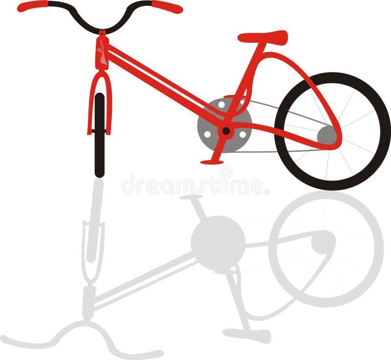Bicicletta della bici con colore rosso dell'ombra immagine stock