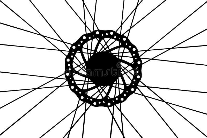 Bicicletta della bici della ruota fotografie stock