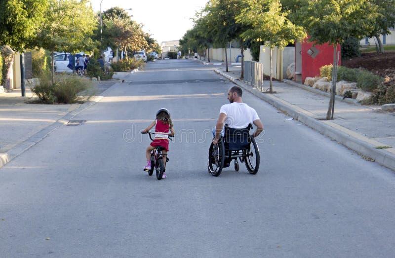 Bicicletta della sedia a rotelle fotografia stock